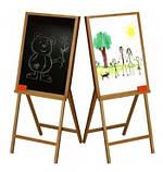 Дитячий дерев'яний мольберт для малювання крейдою й фломастером двосторонній арт.ВП 011, фото 3
