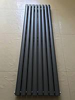 Вертикальный дизайнерский радиатор отопления Rimini || 8/1500 серый матовый