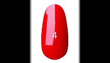 Гель лак для ногтей Kodi №4 (классический красный,эмаль) 8ml