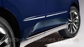 Lexus GS 2013-16 молдинги на двери передние задние левые правые цвет 8W3 Meteor Blue новые оригинал