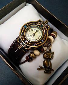 Жіночі наручні годинники CL Owl Brown