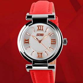 Жіночі наручні годинники Skmei Elegant Red 9075R