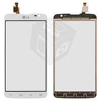 Touchscreen (сенсорный экран) для LG Optimus G Pro Lite D685, D686, белый, оригинал