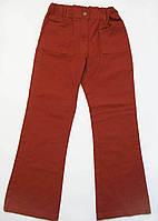 Оранжевые штаны на девочку 7-8 лет, на рост 128