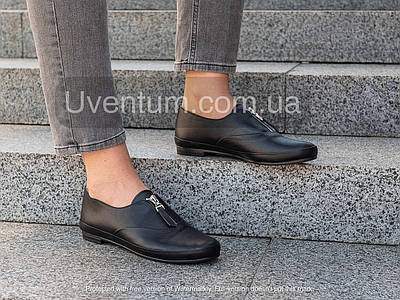 Женские кожаные туфли 36-41 черный