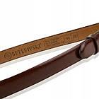 Шкіряний жіночий ремінь Betlewski® 2 х 0.2 (LIC20-3-SR-75) - коричневий, фото 7