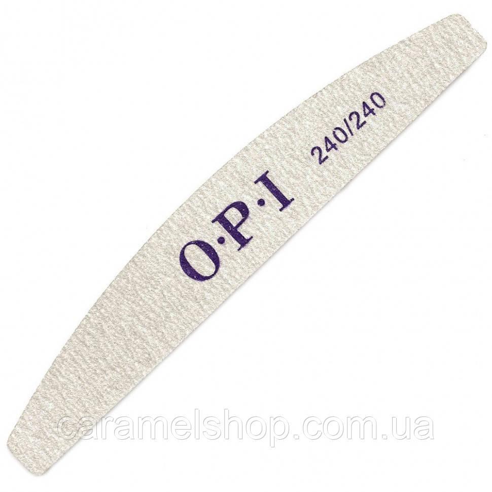 Пилочка двухсторонняя OPI 240/240 полукруг серая