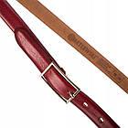 Шкіряний жіночий ремінь Betlewski® 2 х 0,2 (LIC20-2-SR)- червоний, фото 4