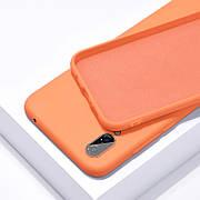 Силиконовый чехол SLIM на Samsung A70 Orange