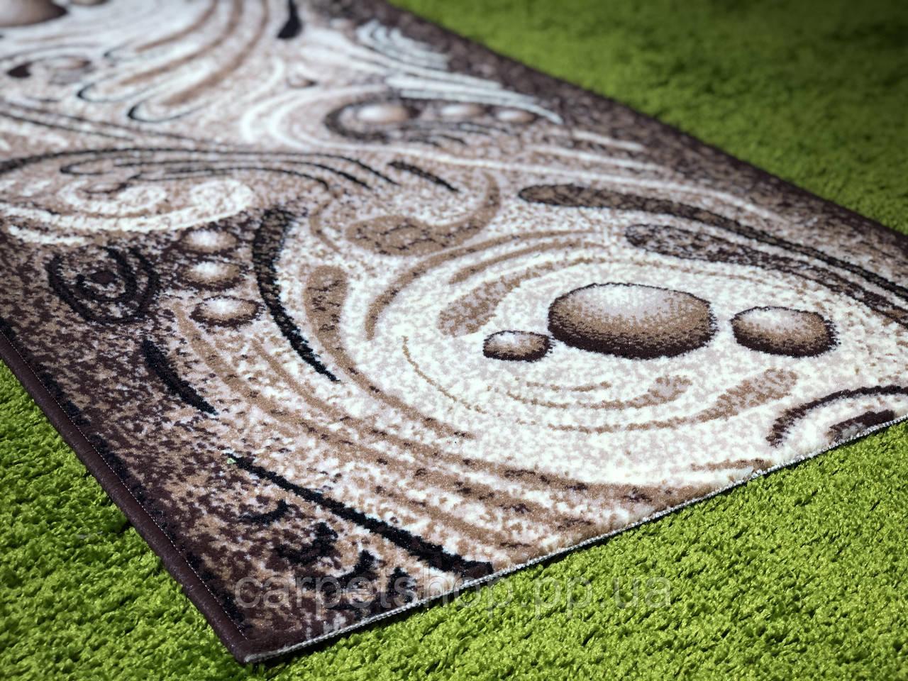 Дорожка ковровая Gold 352/126, коричневая, Karat Carpet, ширина: 70; 80; 100; 150; 180 см