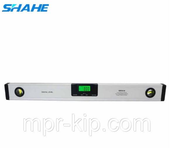 Цифровой уровень с лазером Shahe (5417-600) с цифровым угломером 90° и жидкостным уровнем. 600 мм