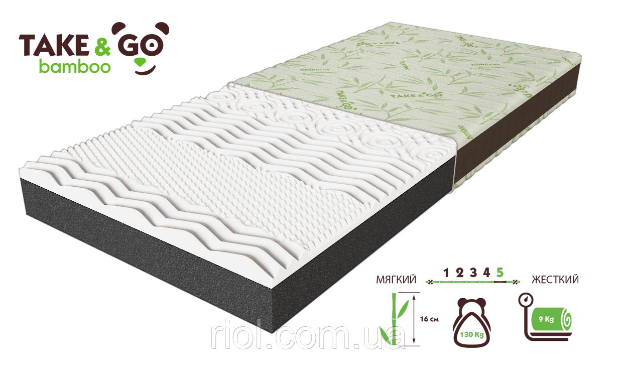 Матрас двусторонний NeoBlack / НеоБлек коллекции Take&Go bamboo