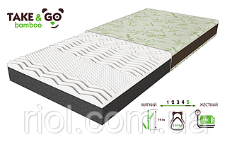 Беспружинный двусторонний матрас NeoBlack / НеоБлек коллекции Take&Go bamboo