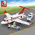 """Конструктор Sluban M38-B0370 """"Літак швидкої допомоги"""", 335 деталей, фото 2"""
