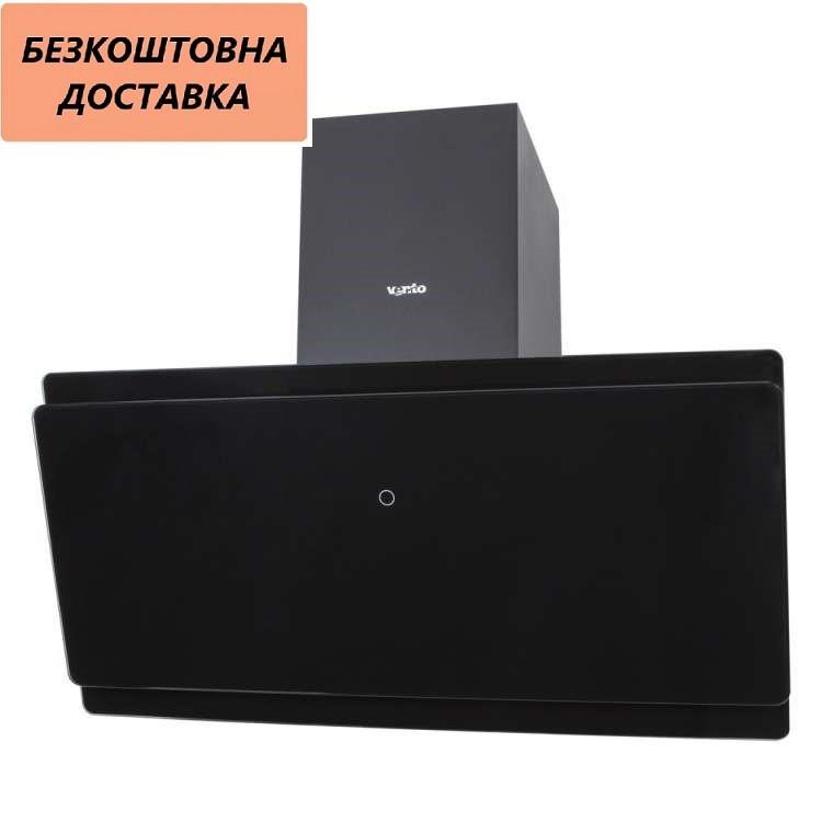 Кухонная вытяжка Ventolux TOSCANA 90 BK (1000) TRC MM Наклонная, Черная, Стекло