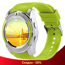 Розумні годинник Smart Watch V8 сенсорні - смарт годинник Зелені, фото 2