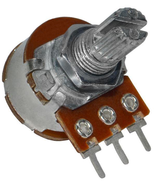 Резистор переменный 500 кОм с выключателем S16KN1-B 500K L-15 KC/N=6.5