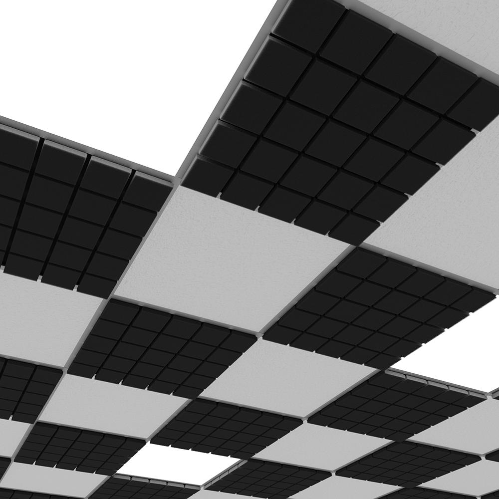 Акустическая плита для подвесных потолочных систем Ecosound Tetras Strong 600х600х20мм черный