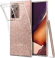 Чехол Spigen для Samsung Galaxy Note 20 Ultra - Liquid Crystal Glitter - Crystal Quartz (ACS01390)