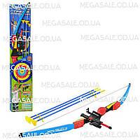 Детский набор спортивный для стрельбы из лука «Меткий Стрелок»: лазер, 3 стрелы с присосками