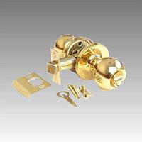 Защелка Knobset KEDR на межкомнатные двери на пятаке D672BK GP (матовое золото)