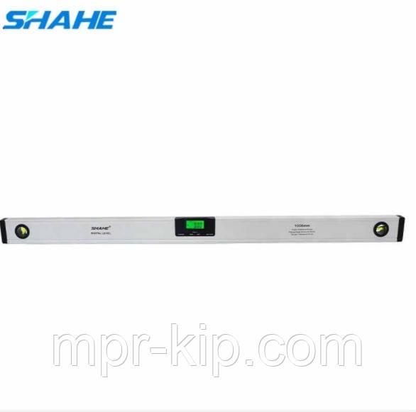 Цифровой уровень с лазером Shahe (5417-1000) с цифровым угломером 90° и жидкостным уровнем. 1000 мм