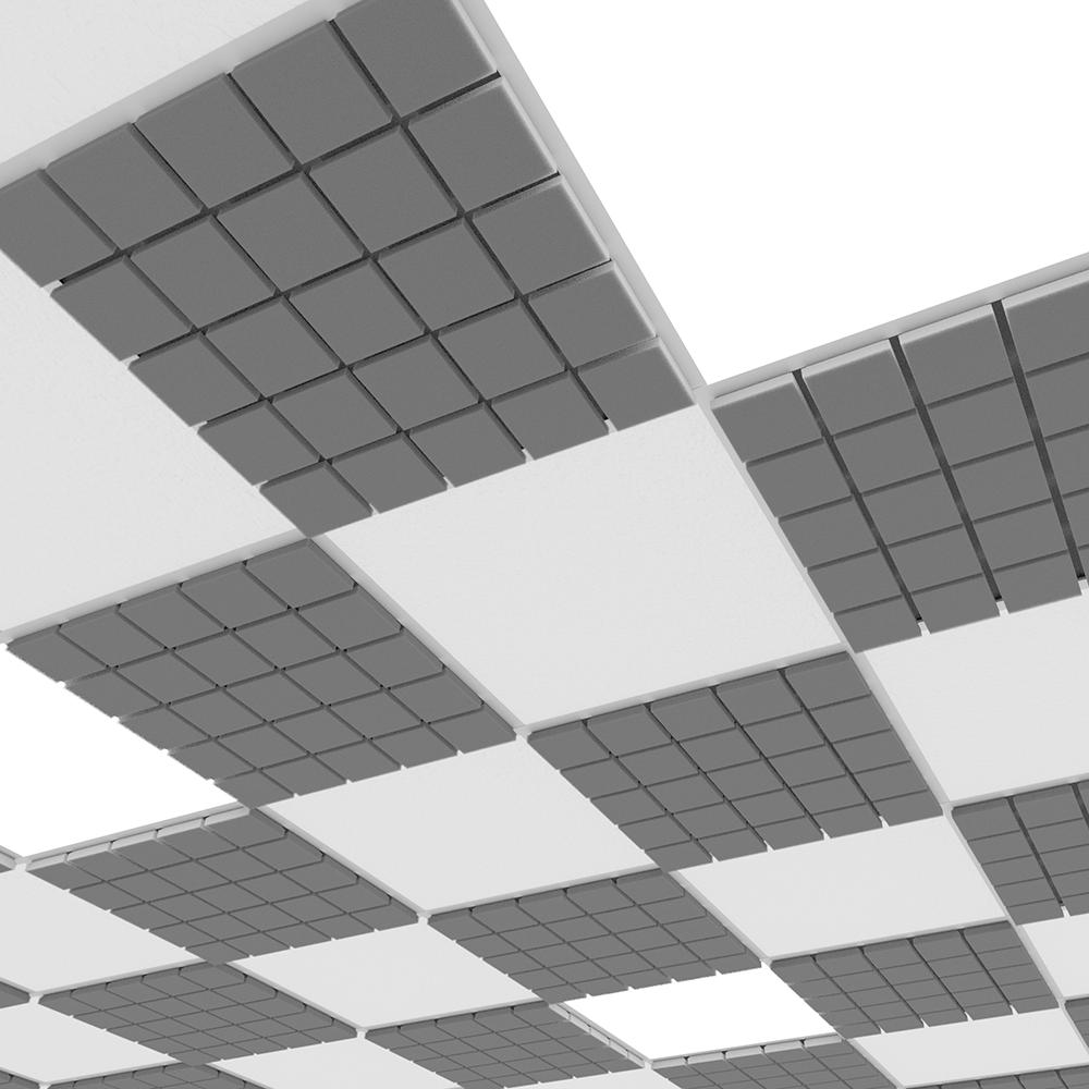 Акустическая плита для подвесных потолочных систем Ecosound Tetras Strong 600х600х20мм серый