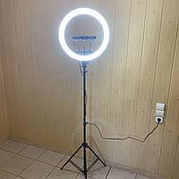 Кольцевая лампа 45 см со штативом на 2м и пультом для телефона селфи кольцо световое кольцевой led блогеров