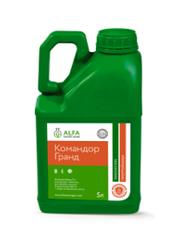 Инсектицидный протравитель Командор Гранд 5л. протравка семян зерновых, подсолнечника, кукурузы, сои, рапса