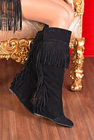 Сапожки Givenchy замшевые бахрома сзади и сверху купить онлайн