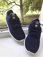 Мужские кроссовки Adidas Pharell Williams, синие, 40 размер, сетка, (Адидас), осень 2020, лето