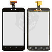 Touchscreen (сенсорный экран) для ZTE V880E, черный, оригинал