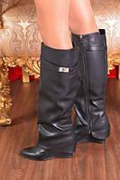 Сапоги Givenchy черные юбка сапог на танкетке  купить онлайн