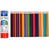 Набор деревянных карандашей для детей (36 цветов) в тубусе Sparta
