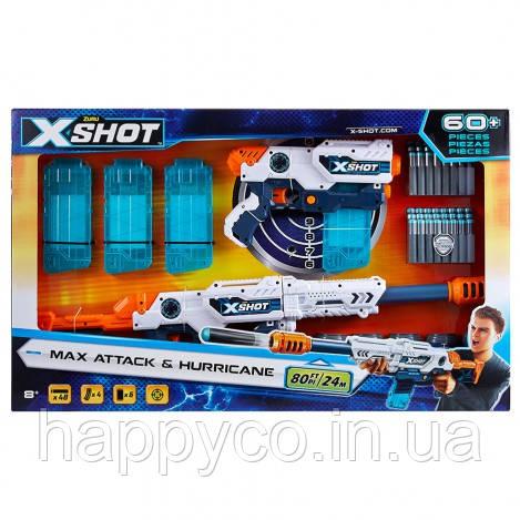 X-Shot Набор скорострельных бластеров EXCEL Clip Blaster (6 банок, 48 патронов)