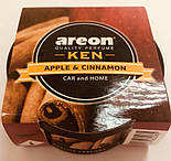 Ароматизатор яблуко Ken Areon Apple & Cinnamon , фото 3