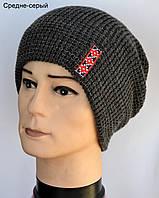 Теплая шапка в украинском стиле 1 шт