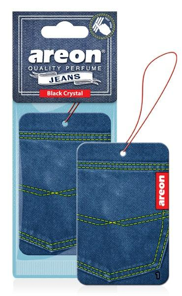 Ароматизатор сухий листочок Areon Jeans  Black Crystal