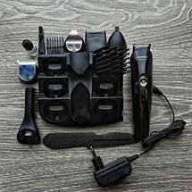 Тример універсальний Kemei (KM-600) 11в1 машинка для стрижки волосся, гоління бороди для носа і вух, фото 3
