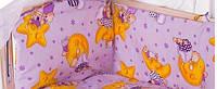 Защита бортики на 4 стороны (отдельные) на завязочках высота 40 см для детской кроватки 120*60см