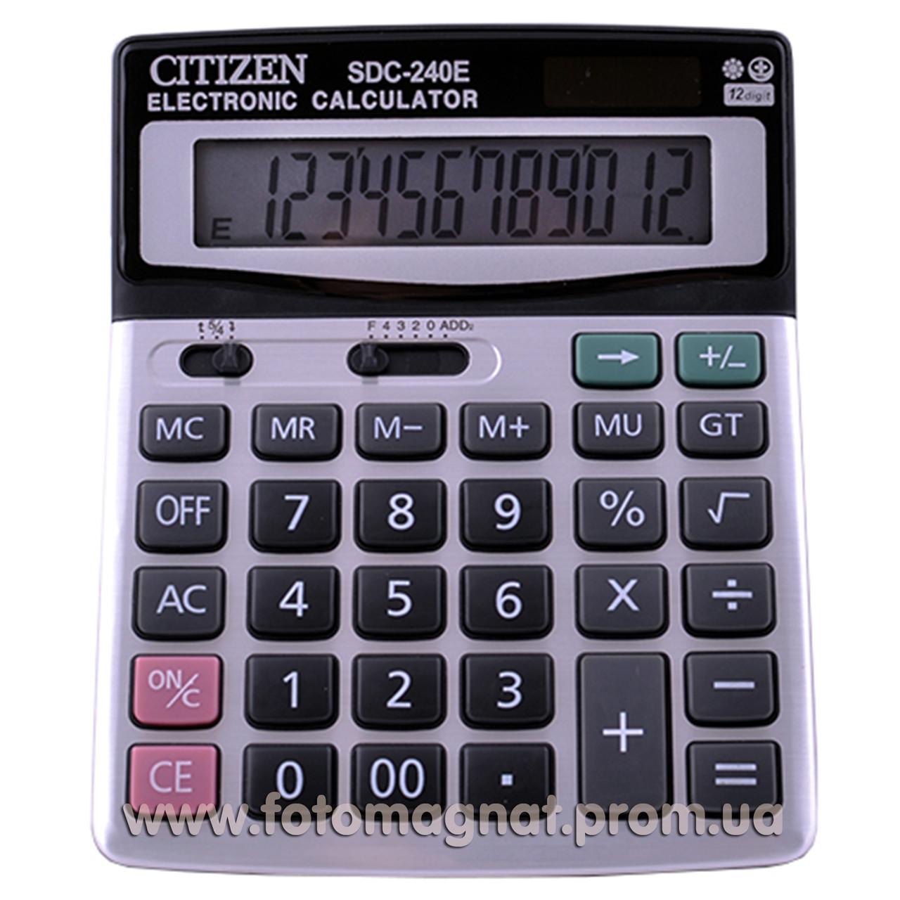 Калькулятор настольный бухгалтерский  CITIZEN  240