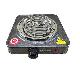 Плита електрична однокомфорочная спіральна Domotec MS-5801 1000W