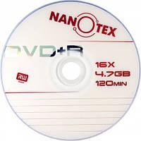 Диск Nanotex  DVD+R 16xbulk 50  (4,76 Gb, 120мин)