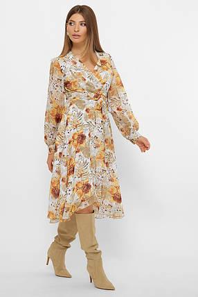 Нежное светлое шифоновое платье, размер от 42 до 48, фото 2