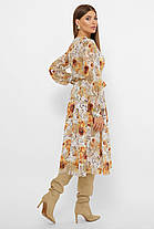 Нежное светлое шифоновое платье, размер от 42 до 48, фото 3