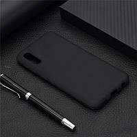 Чехол Soft Touch для Vivo Y1S силикон бампер черный