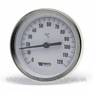 Термометр 63/50 0-120 С биметаллический Watts с погружной гильзой