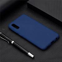 Чехол Soft Touch для Vivo Y1S силикон бампер темно-синий