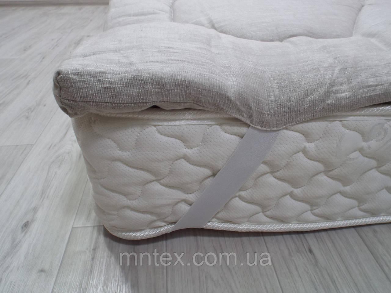Топер з конопляного волокна, покриття льон