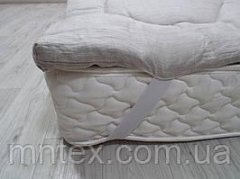 Топпер из конопляного волокна, покрытие лён